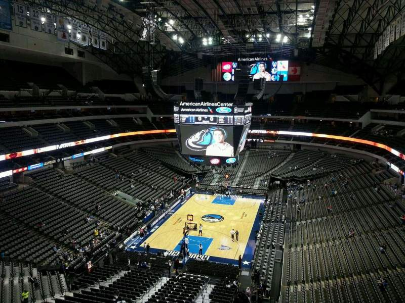 Seating view for American Airlines Center Section 317 Row D Seat 2