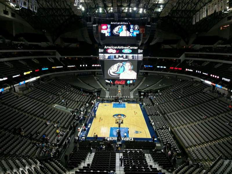 Seating view for American Airlines Center Section 318 Row B Seat 10