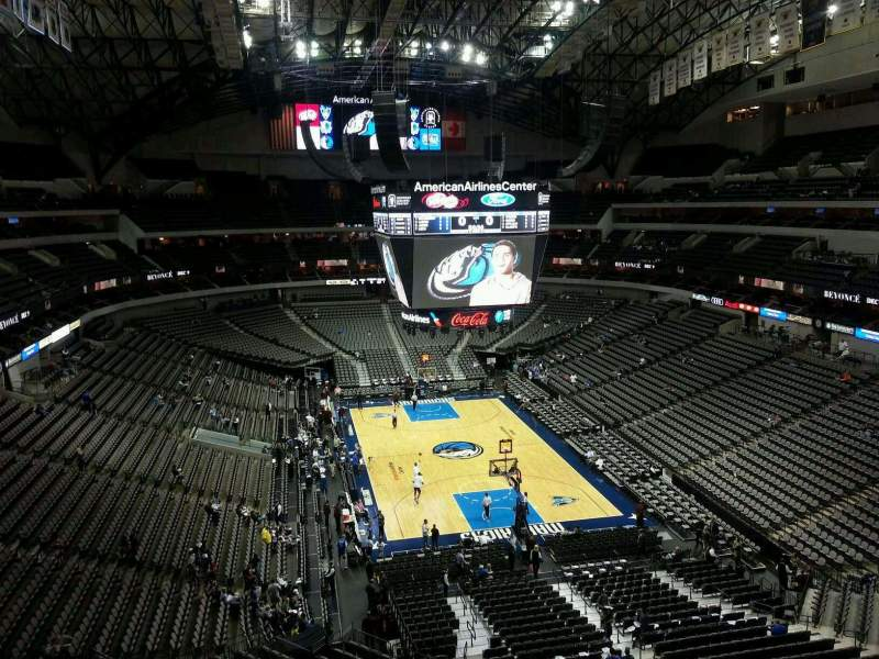 Seating view for American Airlines Center Section 319 Row A Seat 14