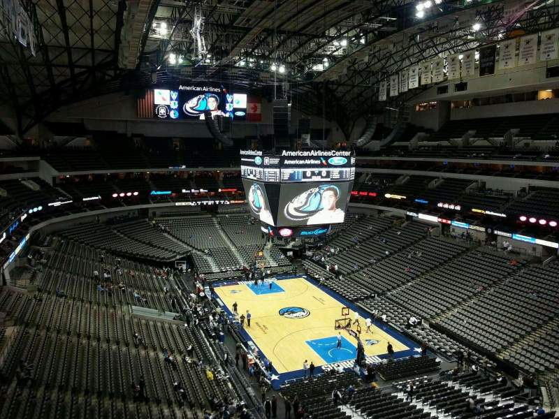 Seating view for American Airlines Center Section 320 Row D Seat 17