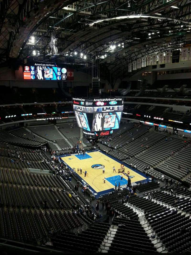 Seating view for American Airlines Center Section 321 Row H Seat 4