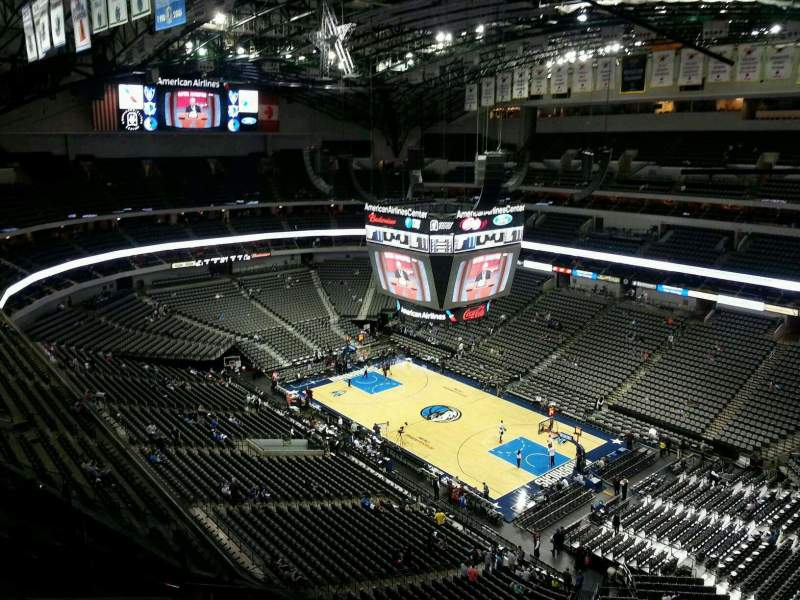 Seating view for American Airlines Center Section 322 Row L Seat 8