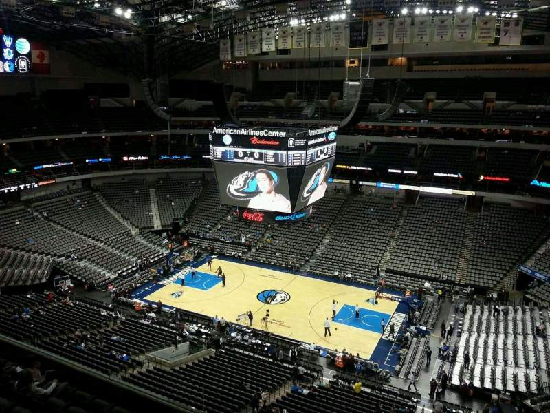 Seating view for American Airlines Center Section 324 Row G Seat 14