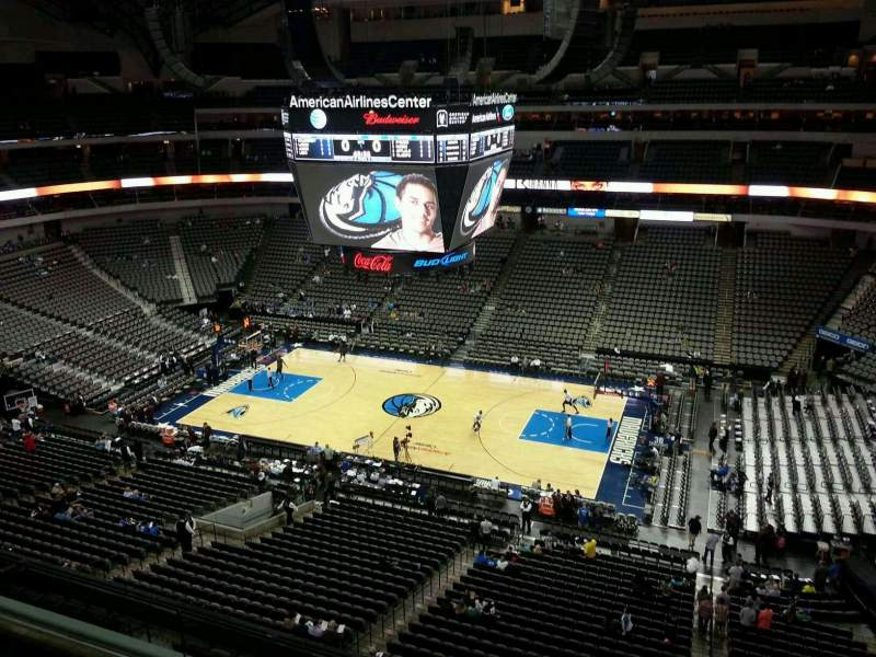 Seating view for American Airlines Center Section 324 Row C Seat 1