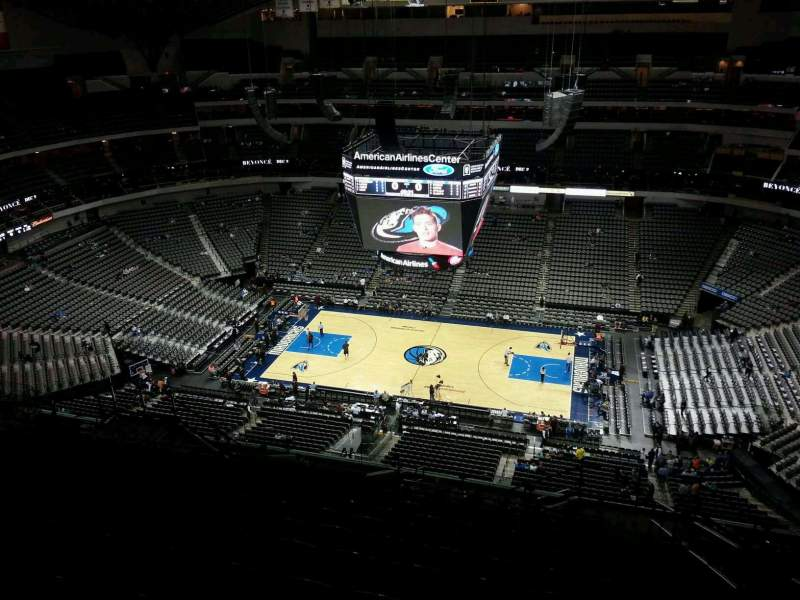 Seating view for American Airlines Center Section 325 Row T Seat 3