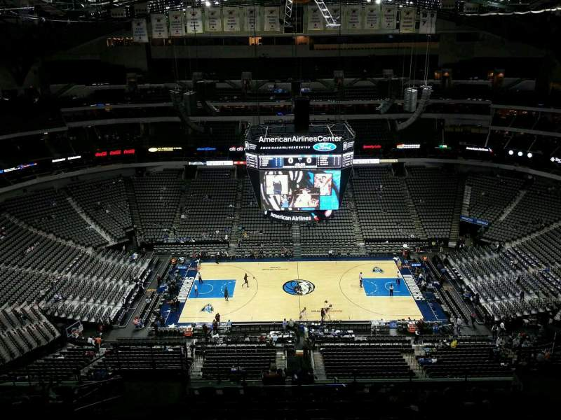 Seating view for American Airlines Center Section 326 Row R Seat 11