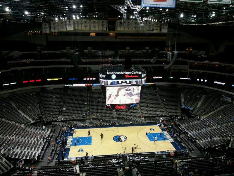 Seating view for American Airlines Center Section 327 Row O Seat 5