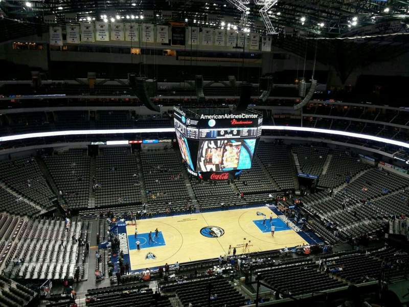 Seating view for American Airlines Center Section 328 Row M Seat 3