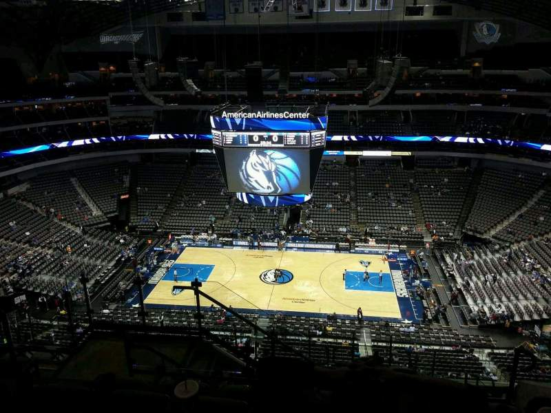 Seating view for American Airlines Center Section 309 Row L Seat 15
