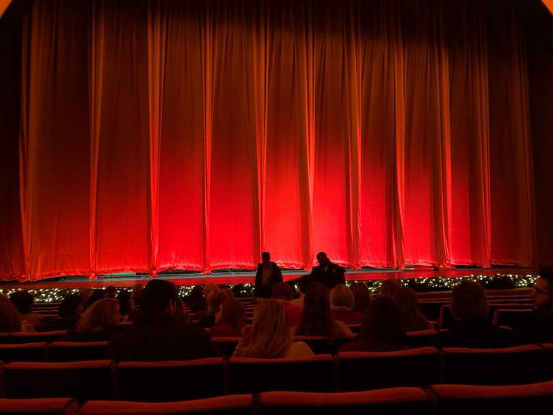 Radio City Music Hall, section Orchestra 5, row MM, seat 505