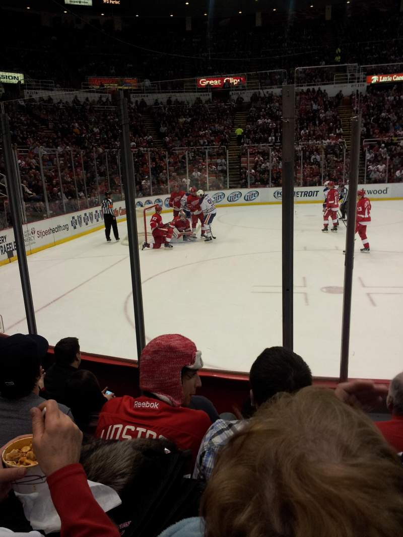 Seating view for Joe Louis Arena Section 110 Row 5 Seat 8