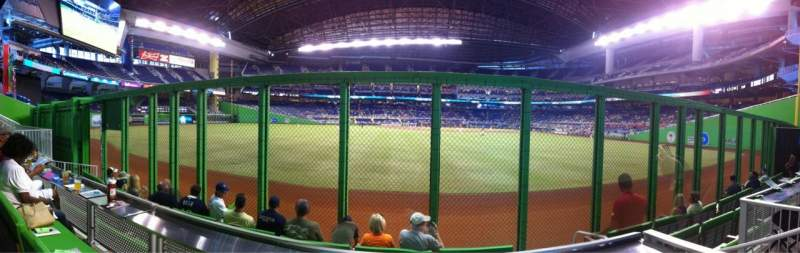 Seating view for Marlins Park Section The Clevelander Row 4