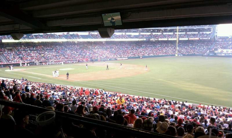 Seating view for Angel Stadium Section T228 Row handicap Seat 5