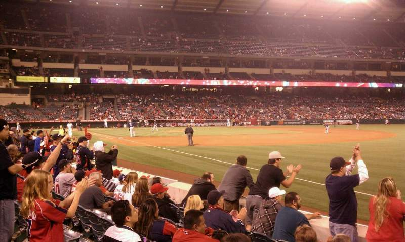Seating view for Angel Stadium Section F129 Row f Seat 16