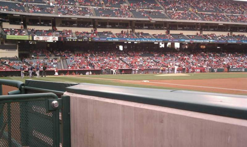 Seating view for Angel Stadium Section F127 Row aa Seat 4