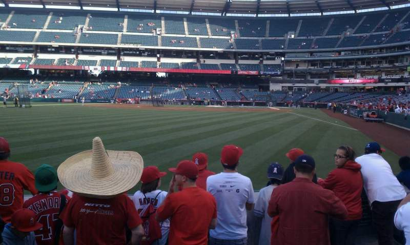 Seating view for Angel Stadium Section F101 Row c Seat 4