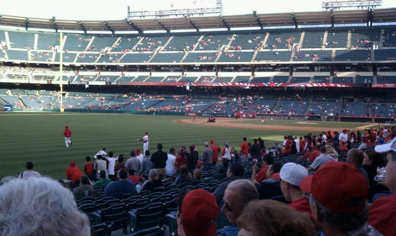 Seating view for Angel Stadium Section 103 Row r Seat 17