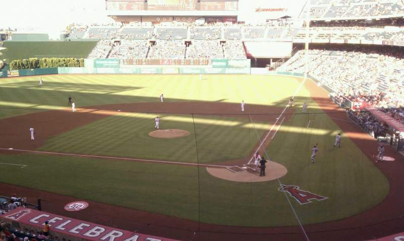 Seating view for Angel Stadium Section club Row c Seat 11