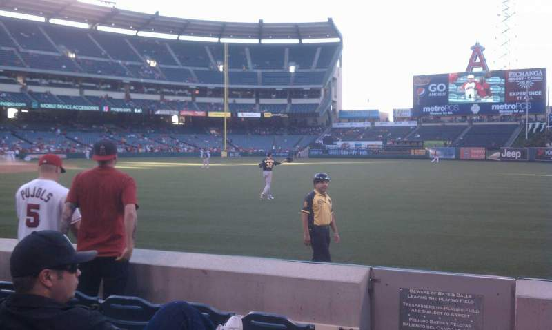 Seating view for Angel Stadium Section F131 Row e Seat 1