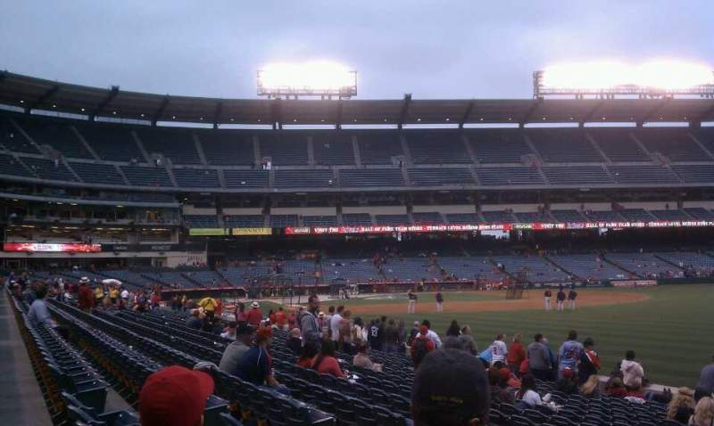 Seating view for Angel Stadium Section 132 Row p Seat 11