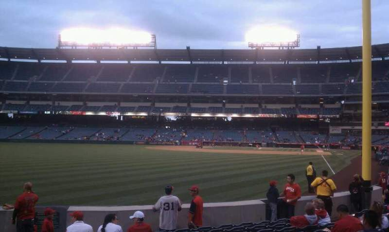 Seating view for Angel Stadium Section F102 Row k Seat 1