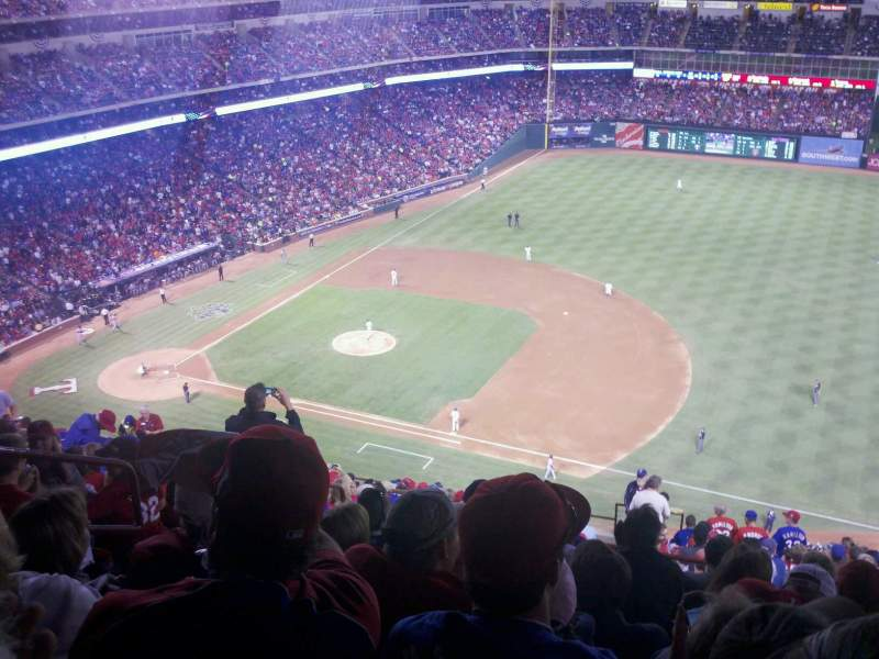Seating view for Globe Life Park in Arlington Section 326 Row 20 Seat 6