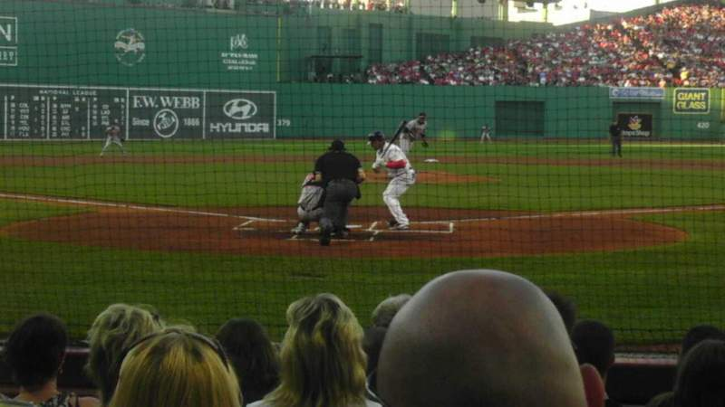 Seating view for Fenway Park Section Field Box 43 Row e Seat 6