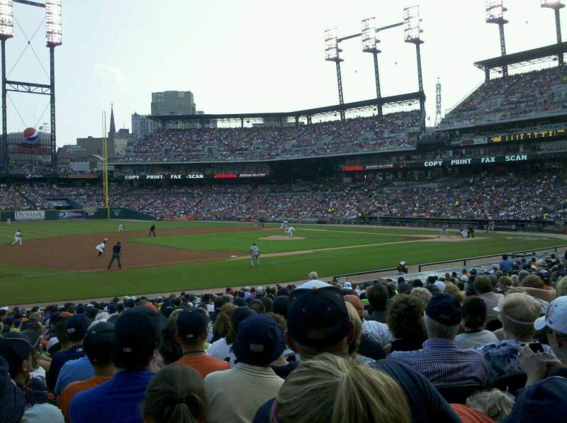 Seating view for Comerica Park Section 137 Row 27 Seat 14