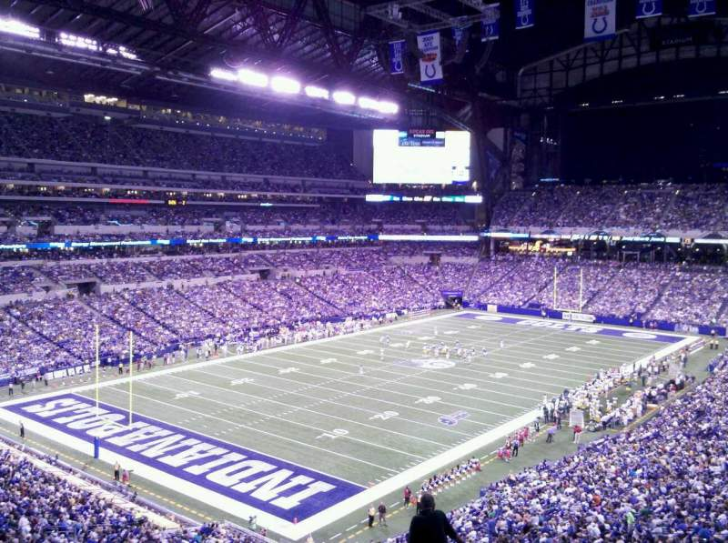 Seating view for Lucas Oil Stadium Section 422 Row 7 Seat 7