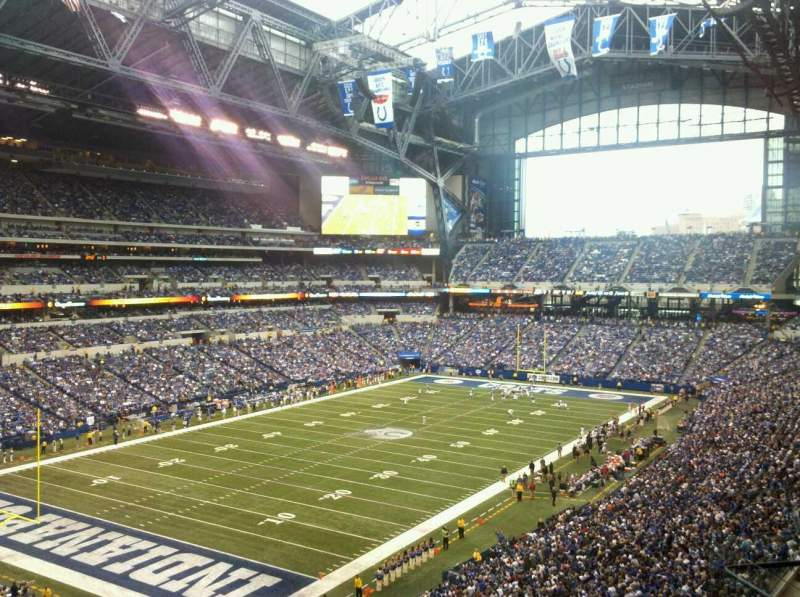 Seating view for Lucas Oil Stadium Section 422 Row 7 Seat 10