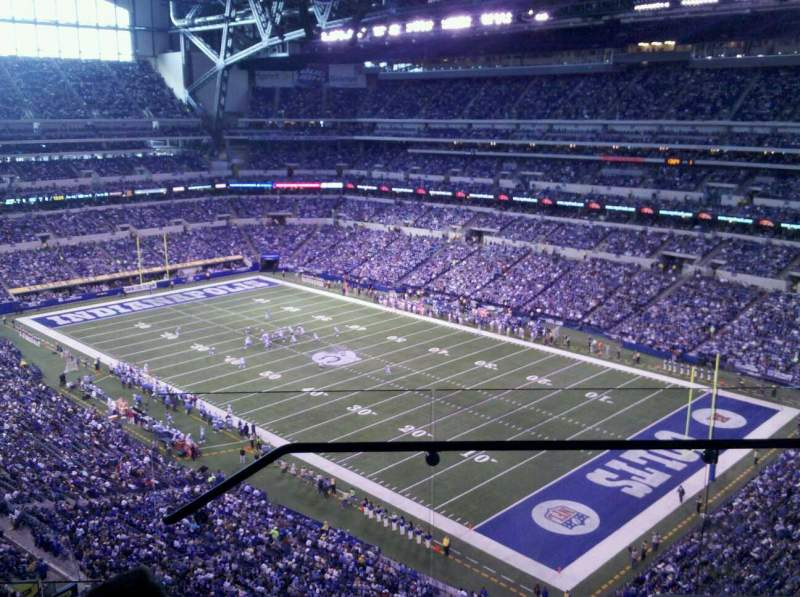 Seating view for Lucas Oil Stadium Section 606 Row 4 Seat 2