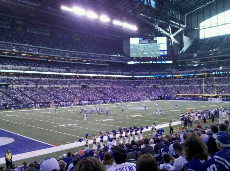 Seating view for Lucas Oil Stadium Section 145 Seat 9