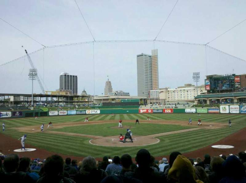 Seating view for Parkview Field Section 108 Row AA Seat 12