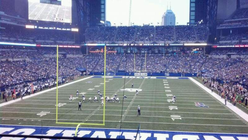 Seating view for Lucas Oil Stadium Section 225 Row 5 Seat 21