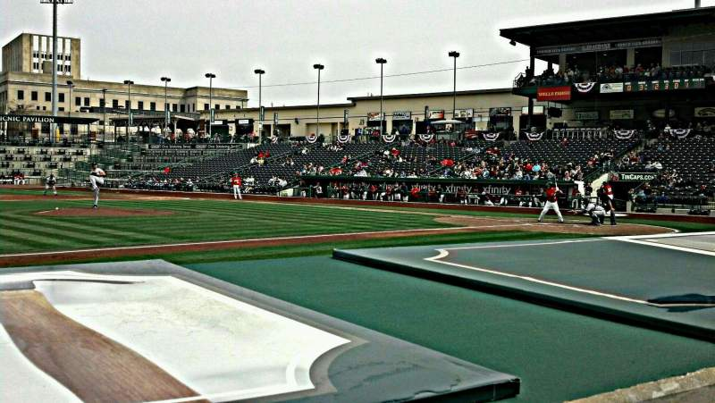 Seating view for Parkview Field Section 113 Row G Seat 9