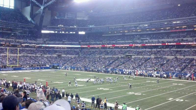 Seating view for Lucas Oil Stadium Section 109 Row 24 Seat 1