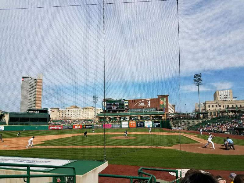 Seating view for Parkview Field Section 111 Row L Seat 10