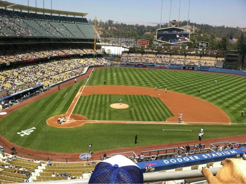 Seating view for Dodger Stadium Section 10RS Row B Seat 4
