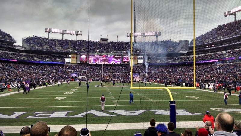 M&T Bank Stadium, section: 141, row: 8, seat: 1