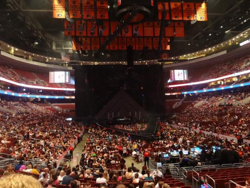 Seating view for Wells Fargo Center Section 106 Row 17 Seat 11