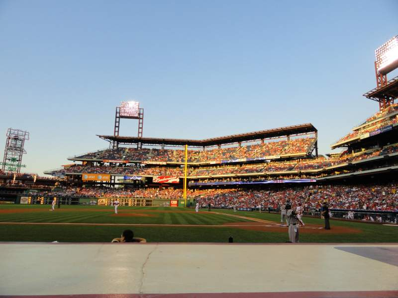 Seating view for Citizens Bank Park Section 129 Row 2 Seat 7