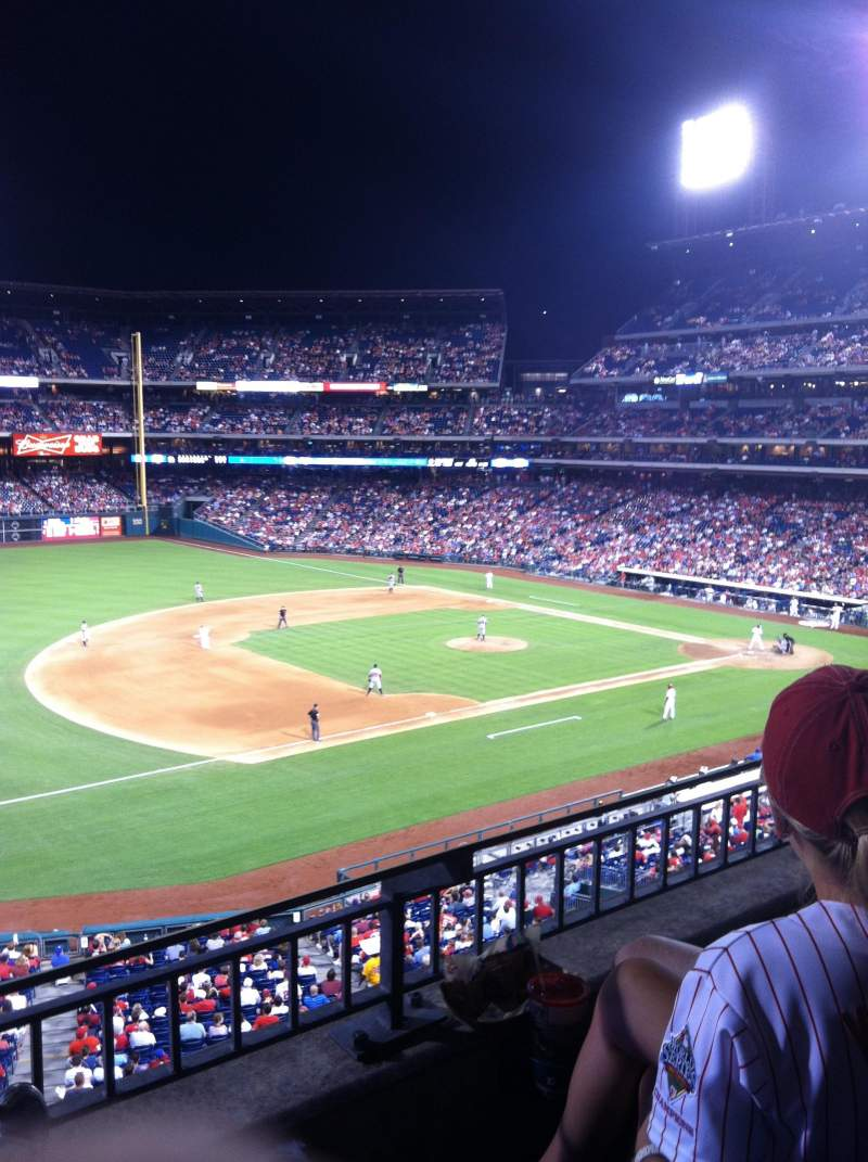 Seating view for Citizens Bank Park Section 232 Row 3 Seat 7