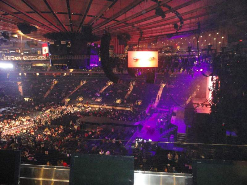 Seating view for Madison Square Garden Section 213 Row 2 Seat 13