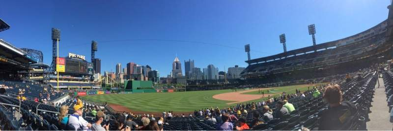 Seating view for PNC Park Section 127 Row M Seat 14