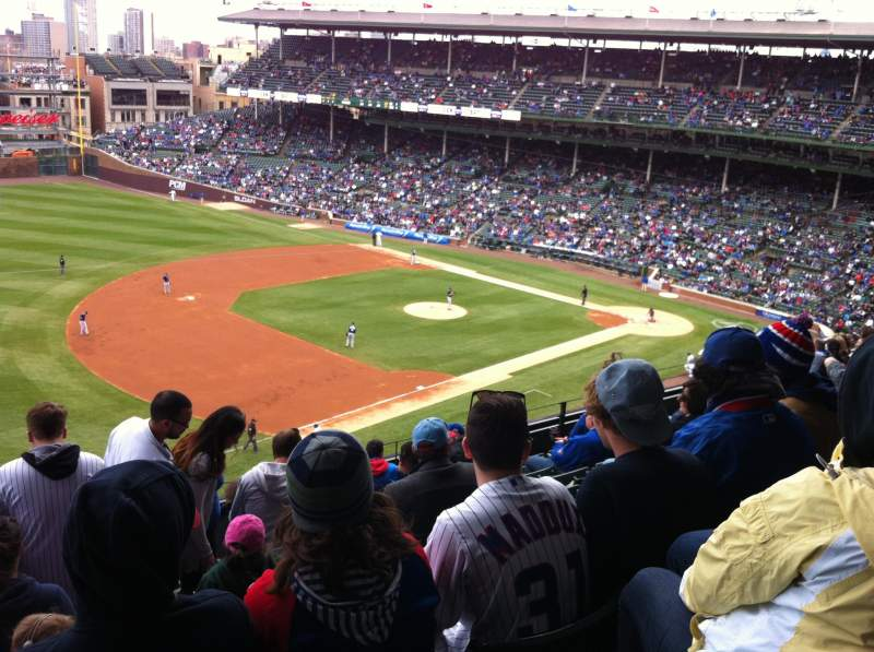 Seating view for Wrigley Field Section 407 Row 9 Seat 5