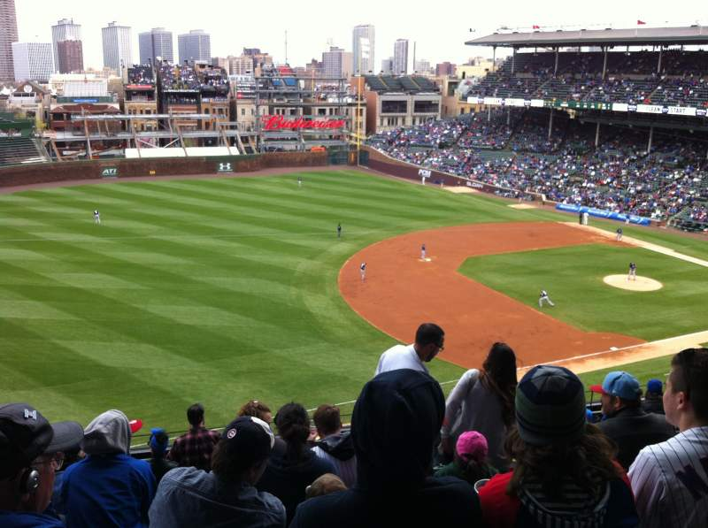 Seating view for Wrigley Field Section 307L Row 9 Seat 5