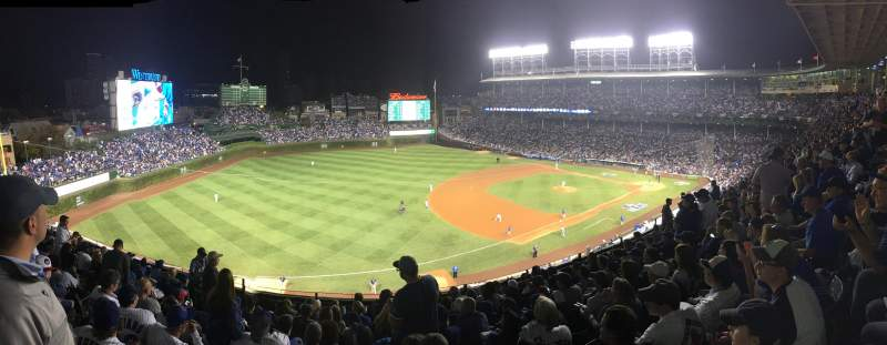 Seating view for Wrigley Field Section 407 Row 9 Seat 6