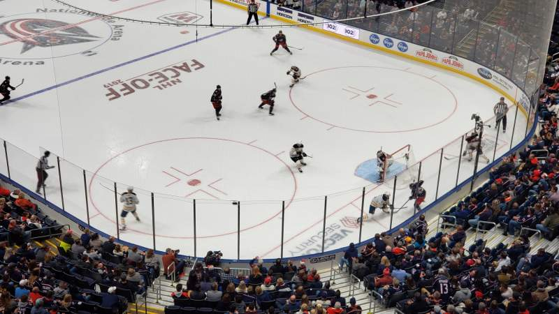 Seating view for Nationwide Arena Section 213 Row A Seat 8
