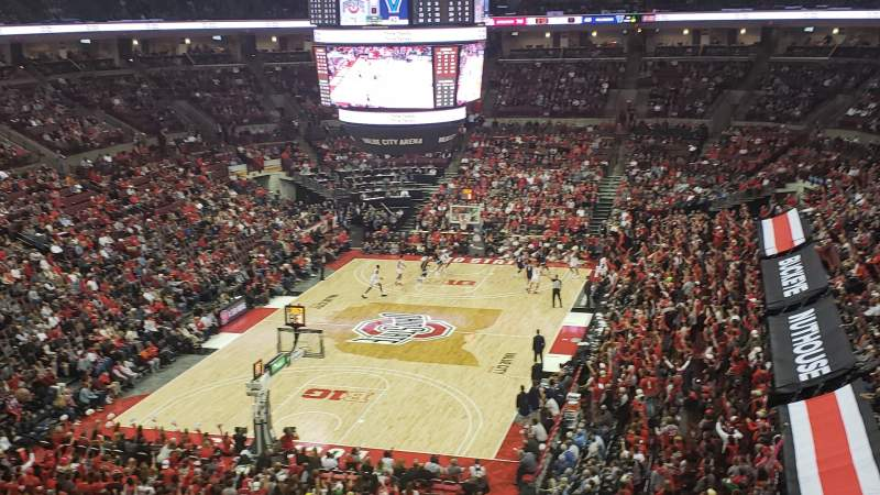 Seating view for Value City Arena Section 312 Row A Seat 12