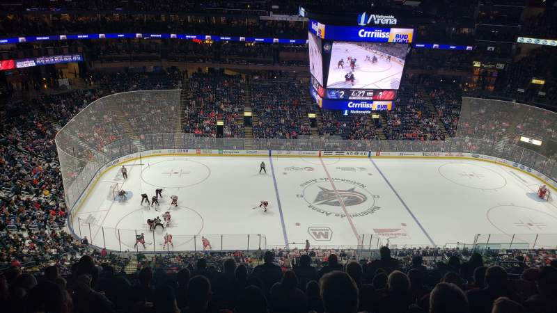 Seating view for Nationwide Arena Section 204 Row L Seat 9